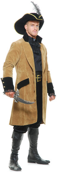 Elegant Pirate Coat Adult Costume