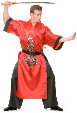 Red Samurai Ninja Adult Costume