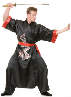 Black Samurai Ninja Adult Costume