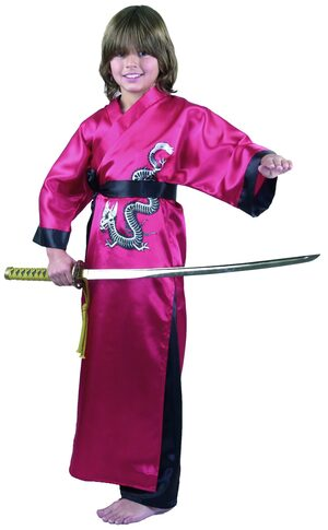 Red Dragon Master Ninja Kids Costume