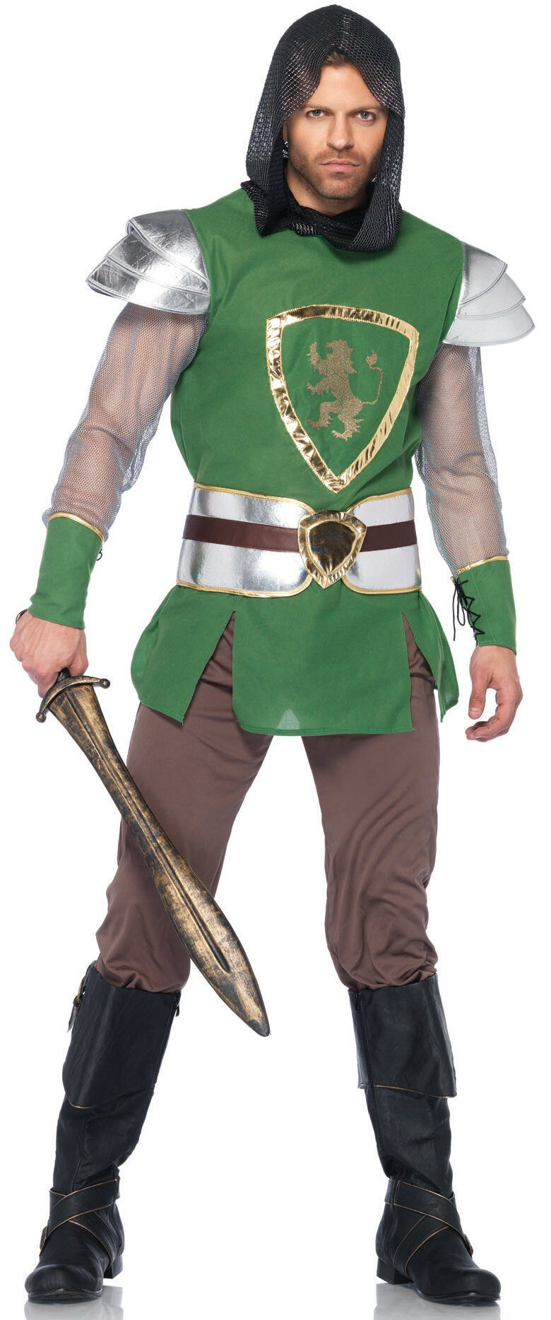 Excellent Medieval knight adult costume theme simply