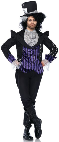 Dark Mad Hatter Costume Adult Costume