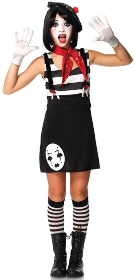 Circus Mime Teen Costume