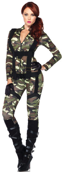 Sexy Pretty Paratrooper Military Costume