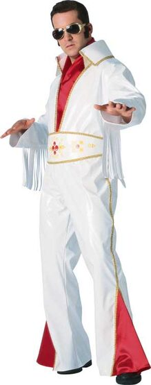 White Vinyl Rock Star Adult 50s Costume