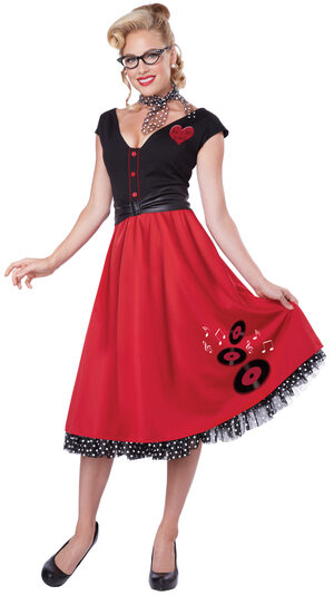 Rock and Roll Sweetheart 50s Adult Costume
