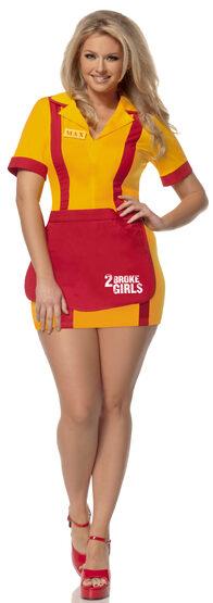 2 Broke Girls Waitress Plus Size Costume