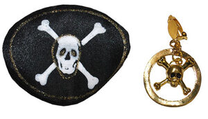 Pirate Eyepatch and Earring Set