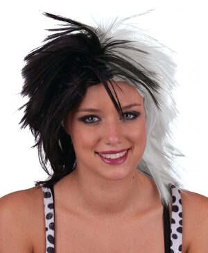Black and White Clown Wig