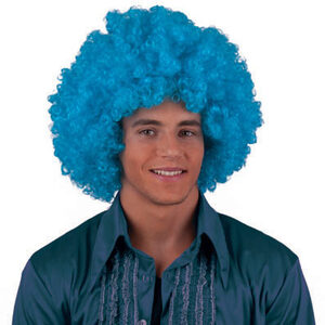 60s Blue Afro Wig