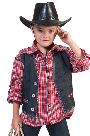 Boys Cowboy Vest Kids Costume