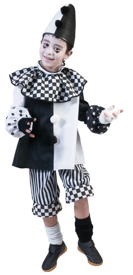 Checkered Clown Kids Costume