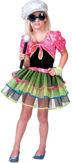 Rock and Roll Diva Rockstar Kids Costume