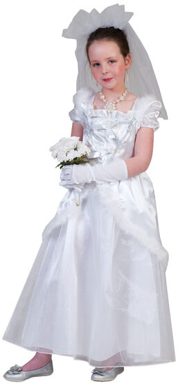Elegant Bride Kids Costume