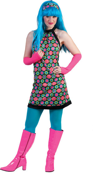 Psychedelic Retro Adult Costume