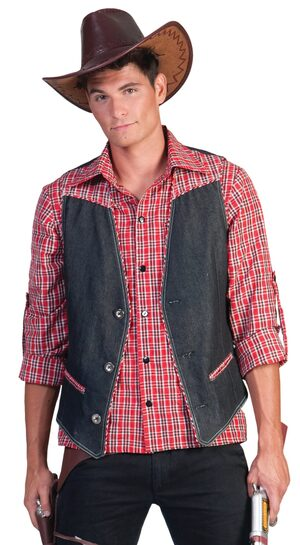Plaid Cowboy Shirt Adult Costume