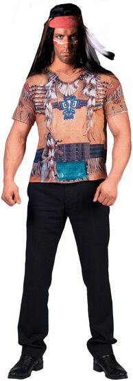 3D Native American Indian Shirt Adult Costume