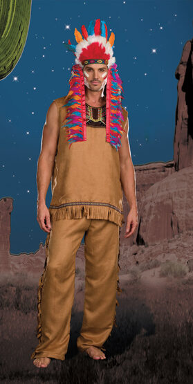 Chief Big Wood Indian Adult Costume