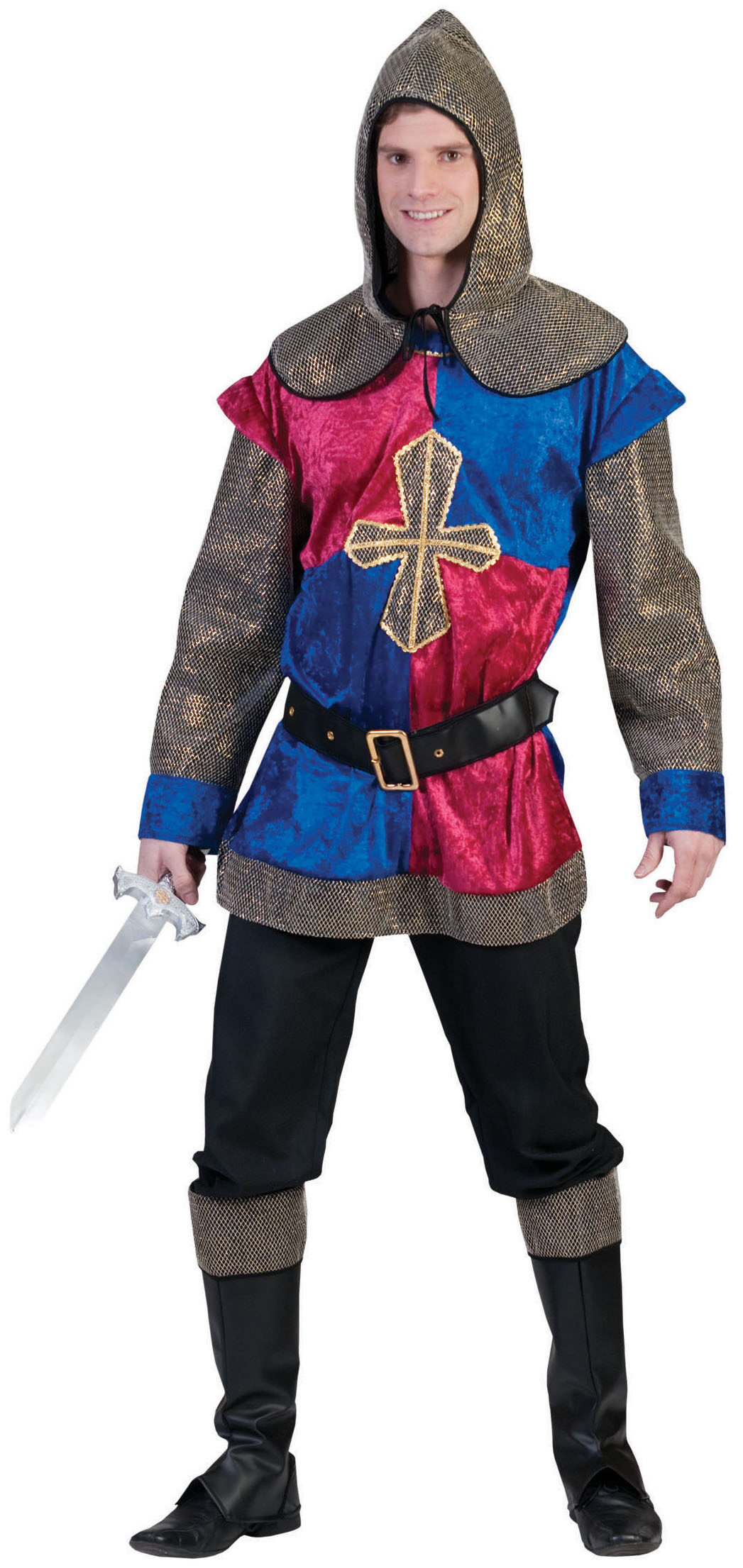 Medieval knight adult costume have removed