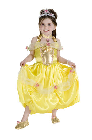 Elegant Princess Belle Kids Costume