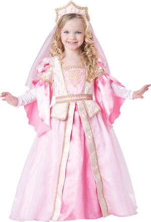Pleasant Pink Princess Kids Costume