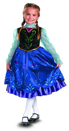 Disney Frozen Princess Anna Kids Costume