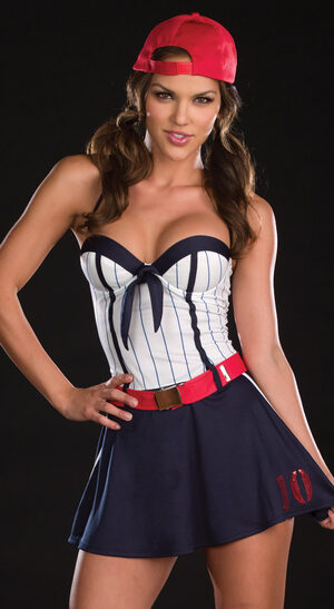 Sexy Big League Baseball Babe Costume