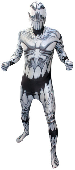 Scary Mouth Morphsuit Adult Costume