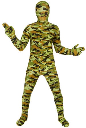 Commando Military Morphsuit Kids Costume