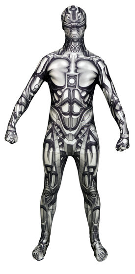 Scary Android Morphsuit Adult Costume