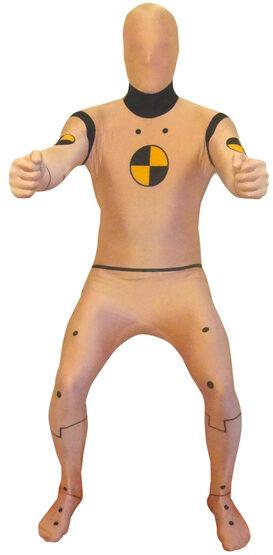 Funny Crash Test Dummy Morphsuit Adult Costume