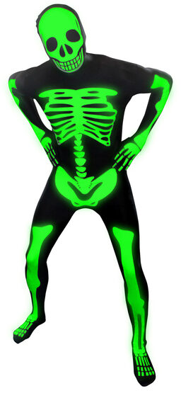 Skeleton Glow Morphsuit Adult Costume