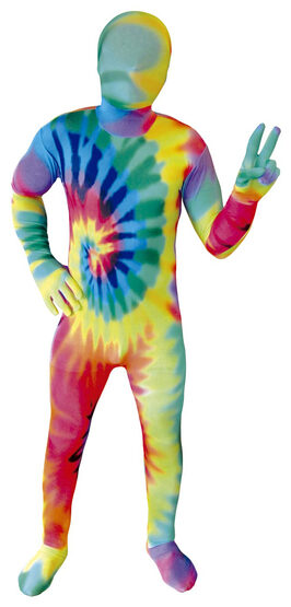 Hippie Tie Dye Morphsuit Kids Costume