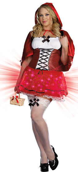 Little Red De-Light Riding Hood Plus Size Costume