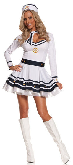 Sexy Drop Anchor Sailor Girl Costume