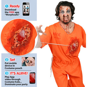 Prisoner Beating Heart Adult Costume