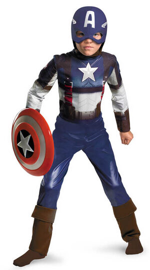 Classic Captain America Retro Kids Costume
