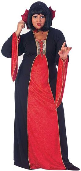 Adult Gothic Vampiress Plus Size Costume