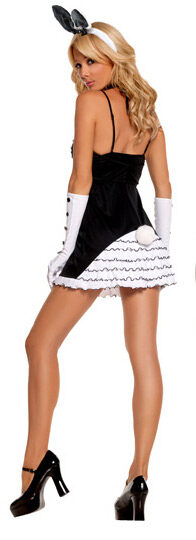 Sexy Womens Black Tie Bunny Costume