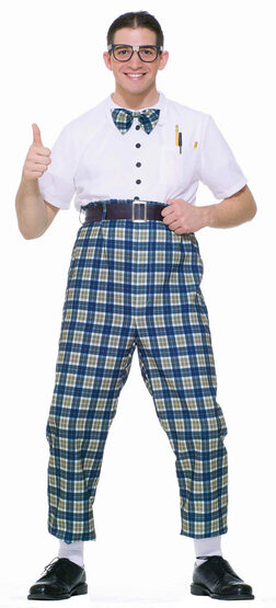Mens Funny Class Nerd Adult Costume