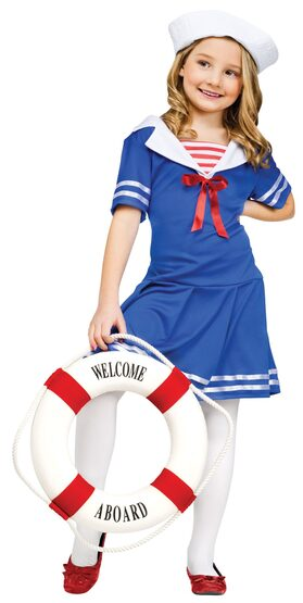 Kids Sea Sweetie Sailor Costume