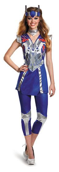Womens Optimus Prime Superhero Adult Costume