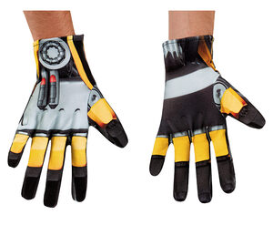 Bumblebee Transformer Adult Gloves