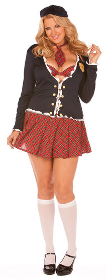 Sexy Skool Daze School Girl Plus Size Costume