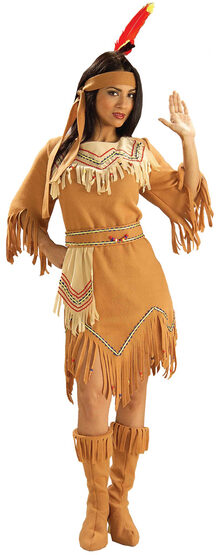 Womens Native Indian Maiden Adult Costume