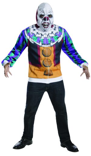 Scary Pennywise Clown Hoodie Adult Costume