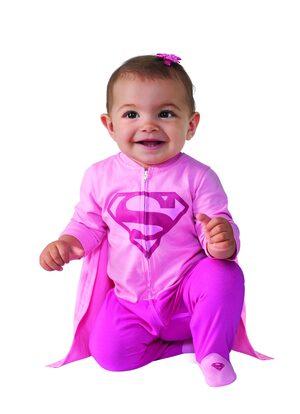 Pink Supergirl Onesie Baby Costume