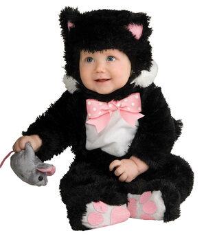 Sneaky Black Kitty Cat Baby Costume