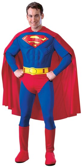 Superman Muscle Chest Deluxe Adult Costume