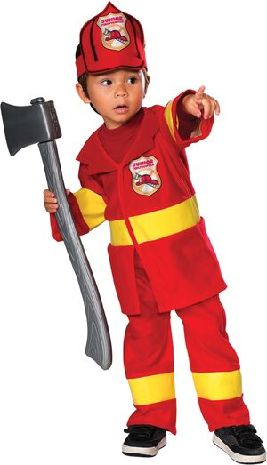 Boys Junior Firefighter Kids Costume